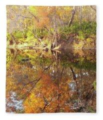 Fall Time Reflectionn Fleece Blanket