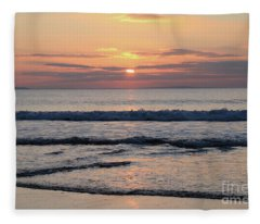 Fanore Sunset 2 Fleece Blanket