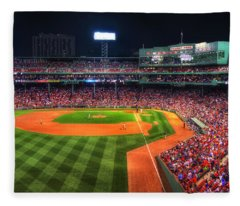 Fenway Park At Night - Boston Fleece Blanket