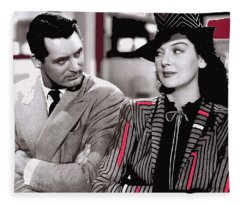 Film Homage Cary Grant Rosalind Russell Howard Hawks His Girl Friday 1940-2008 Fleece Blanket
