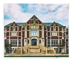 Fine Arts Building - Ball State University Fleece Blanket