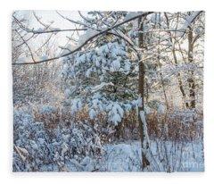 First Snow Fall Fleece Blanket