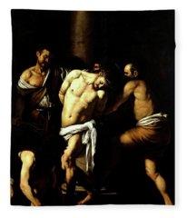 Flagellation Of Christ Fleece Blanket