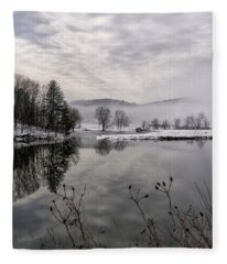 Fog On The River Fleece Blanket