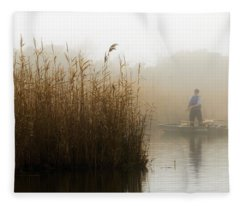 Foggy Fishing Fleece Blanket