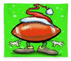 Football Christmas Fleece Blanket