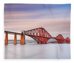 Forth Railway Bridge Fleece Blanket