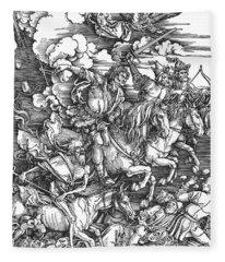 Four Horsemen Of The Apocalypse Fleece Blanket