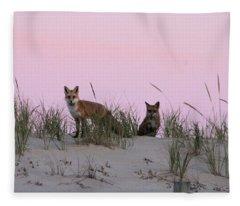 Fox And Vixen Fleece Blanket