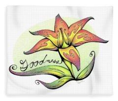Fruit Of The Spirit Series 2 Goodness Fleece Blanket