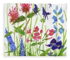 Garden Flowers Fleece Blanket