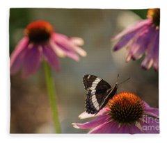 Garden Visitor Fleece Blanket