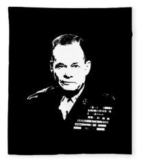 General Lewis Chesty Puller Fleece Blanket
