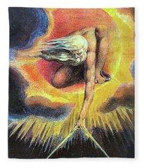 God As Architect Fleece Blanket