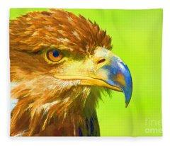 Golden Eagle Fleece Blanket