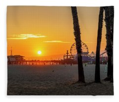 Golden Glow At Sunset Fleece Blanket