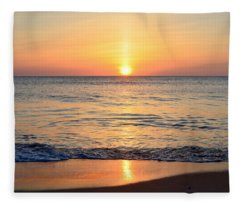 Golden Sunrise  Fleece Blanket