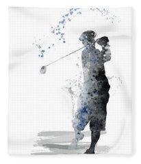 Golfer Fleece Blanket