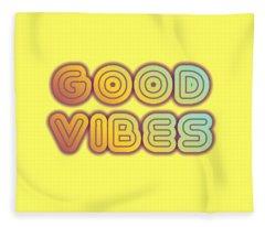 Good Vibes Fleece Blanket