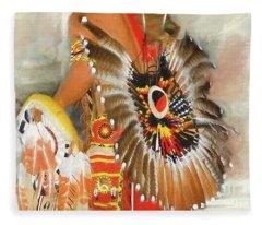 Grand Prairie Texas Pow-wow Fleece Blanket