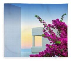 Greece 3  Fleece Blanket