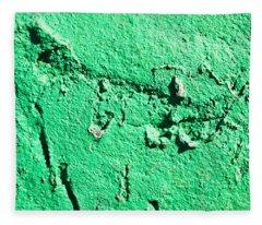 Green Background Fleece Blanket