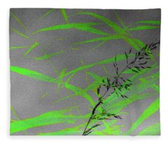 Green Rush Fleece Blanket