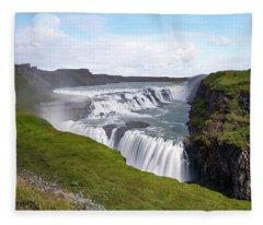 Gullfoss - Iceland Fleece Blanket