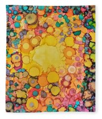 Happy Explosion Fleece Blanket