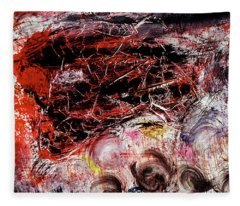 Fleece Blanket featuring the painting Harmony by Michael Lucarelli