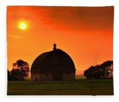Harvest Sunset  Fleece Blanket