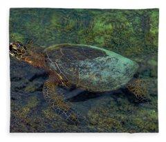 Hawaiian Sea Turtle Fleece Blanket