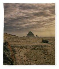 Haystack Rock Fleece Blanket