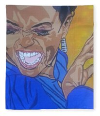 Hazel Scott Fleece Blanket