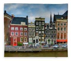 Herengracht 411. Amsterdam Fleece Blanket