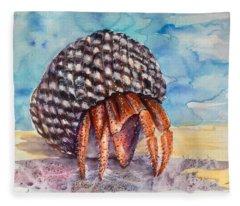 Hermit Crab 4 Fleece Blanket