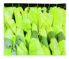 High Visibility Jackets Fleece Blanket