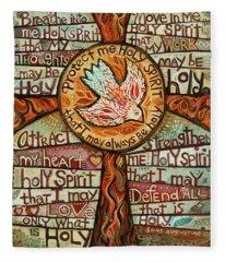 Holy Spirit Prayer By St. Augustine Fleece Blanket