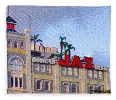 Home Of Jax Beer Fleece Blanket