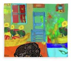 Home Sweet Home Painting 5 Fleece Blanket