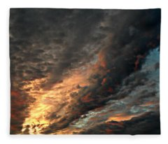 How About Them Clouds Fleece Blanket