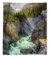 Hurricane River Fleece Blanket