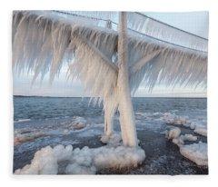Iced Over Fleece Blanket