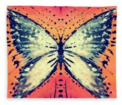 Fleece Blanket featuring the painting In Flight by 'REA' Gallery