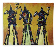 Indian Sundown Fleece Blanket