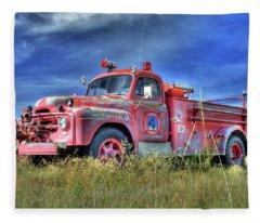 International Fire Truck 2 Fleece Blanket