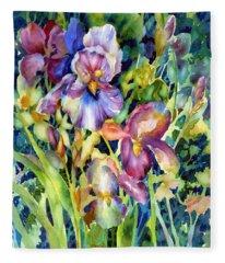 Iris II Fleece Blanket