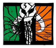 Irish Mandalorian Flag Fleece Blanket