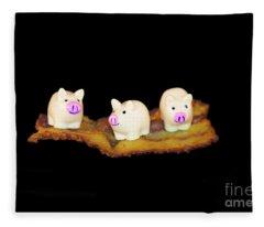 Ironic Pigs Fleece Blanket