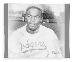 Jackie Robinson Fleece Blanket